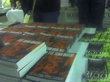 At World Horror - behind the Die Monster Die table.  I just signed ALL these