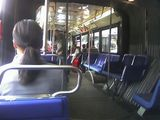 On the bus.