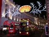 London last night - Regent street lights