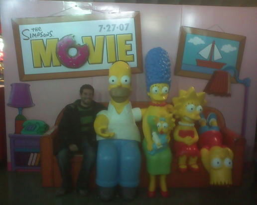 simpsons movie opens today