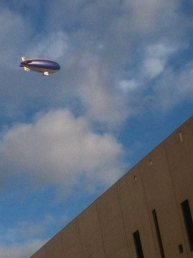 Airship over #OlympicStadium #London2012