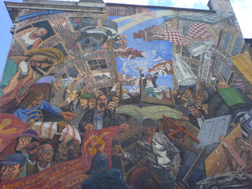 Battle of cable street at simple pleasures part 2 for Battle of cable street mural
