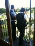 Cops on our balcony