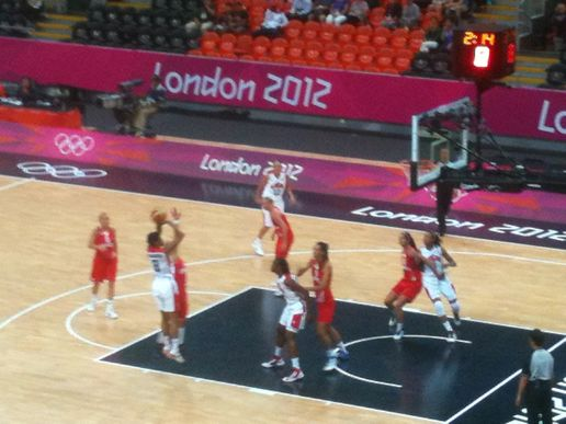 USA v Croatia Women's Basketball #London2012