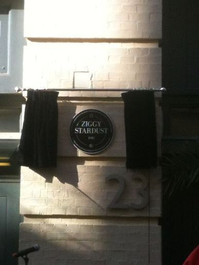 Ziggy Stardust plaque just unveiled