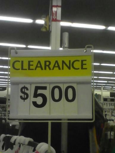 Clearance shopping at midnight