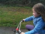 Bike ride with Izzy.