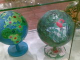 globes made by Danish children at the Climate summit in Copenhagen Dec 2009