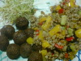 Buckwheat and tofu balls
