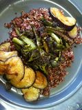 Quinoa, PSB and aubergine
