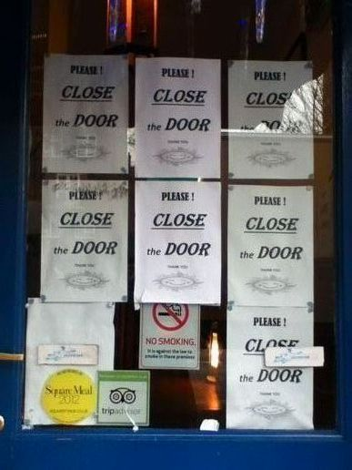 Please close the door...