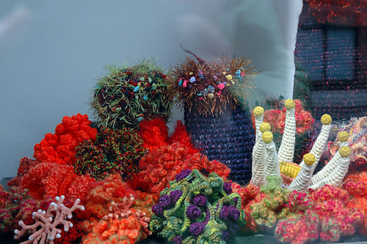 Crocheted coral reef, part 2.