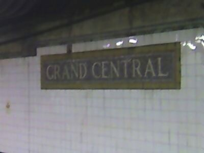 Grand Central, waiting for a downtown 6.