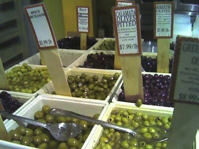 Olives at Murray's.  *drool*