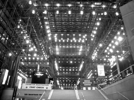 the inside of the Javits center.