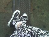 Have Chucks, will travel.   Headed for CBGB.