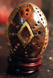 Saturday's Egg, part six: Painted, gilded, touched up, antiqued,  	finished, touched up, waxed, DONE.