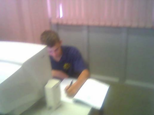 Travis hard at work