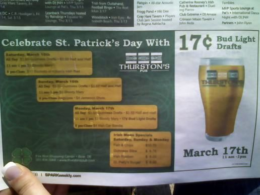 Because nothing says St. Patrick's Day like...