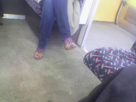 blue fishnet stockings