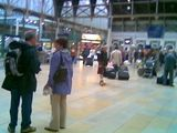 Strange kilted man at Paddington