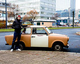 Germany - Julien and a Berliner car.
