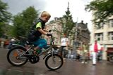 Netherlands: cycling Amsterdam city