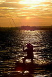 UK: Kitesurfer at Sunset