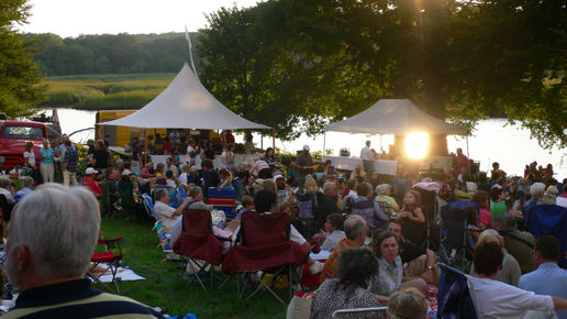 Picnic and music at the Florence Griswold Museum, CT