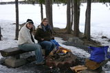 Lakeside BBQ in the snow