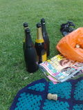 A bottle of bubbly in the park...