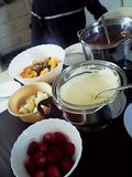 Chocolate fondue at Nat's