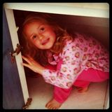 Ames in the cupboard.