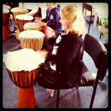 Ames on the African drums.