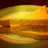 Soph made me a sarnie because I have the lurgy..