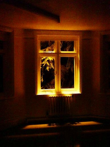 dark window