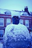 Elderly parliamentarian feeling blue over new #image #wanstead #churchill #snow #photography #photo