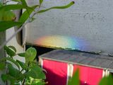 my own, private rainbow :D