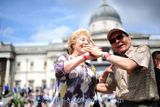 Tea dance at at Trafalgar Square