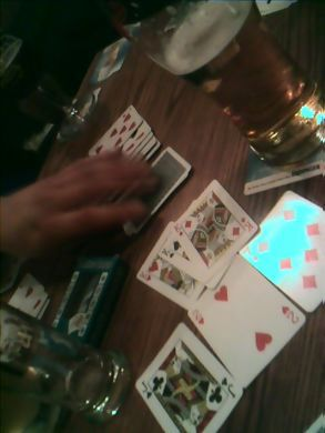 Playing cards in the pub...   with keira knightly*
