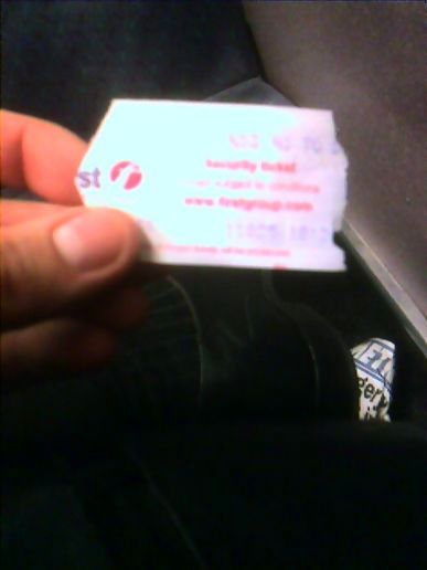 Smallest bus ticket ever?