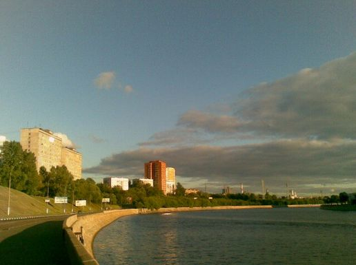 Moscow river right now