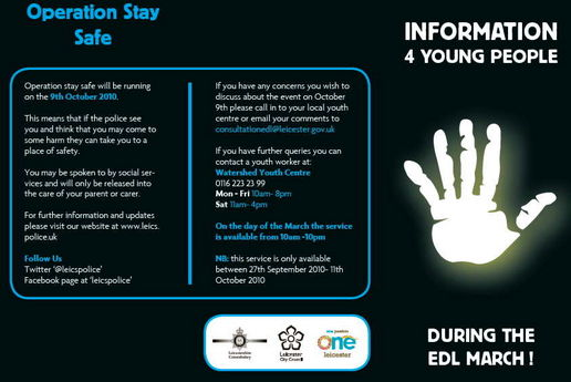 Advice for youths about EDL 1