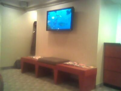 Flatscreen in the waiting room... Smell the money?