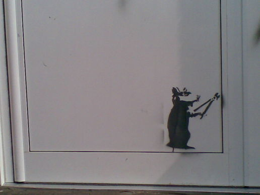 #banksy jr #streetart #stencil, at Noise Of Art