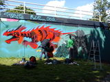@andycouncil and Bosswell #streetart in progress #bristol