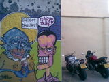 as 1 biker said to the other #streetart