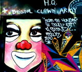 Bristol Clown Army (secret) HQ #streetart , strikes back