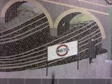 Cycle path tunnel mosaic streetart