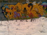 Honeycomb #streetart winter version